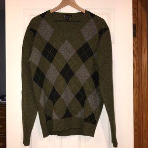 J Crew Wool Argyle Sweater